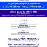 ANTI presenta le 4 proposte di modifica dello Statuto dei diritti del contribuente (Genova, 20 febbraio 2020)