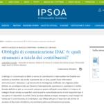 Obblighi di comunicazione DAC 6: quali strumenti a tutela dei contribuenti?