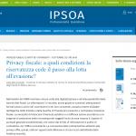 Privacy fiscale: a quali condizioni la riservatezza cede il passo alla lotta all'evasione?