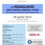 Le uguaglianze: diritti, risorse, sfide per il futuro (Genova, 18 aprile 2016)