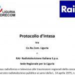 Firmato il protocollo d'intesa tra CoReCom Liguria e RAI per l'accesso radiotelevisivo